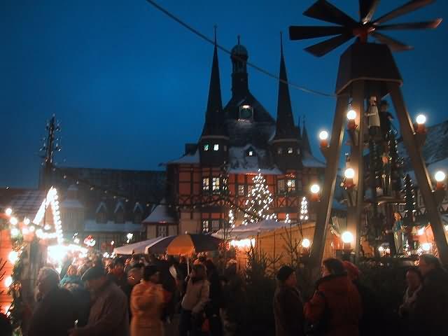 Wernigerode Weihnachtsmarkt.Harzwinter De Wernigerode